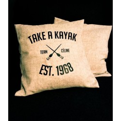 "Pillow Case ""TAKE A KAYAK"" - Céline Crew"