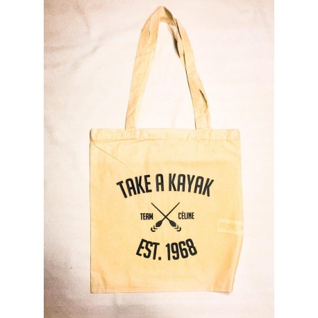 "Tote Bag ""TAKE A KAYAK"" - Céline Crew"