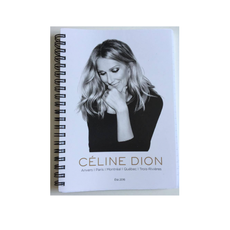 Celine Dion NoteBook - Official 2016 Tour